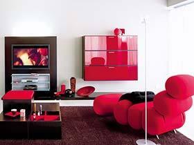 新年要从客厅开始  12款红色系客厅装修效果图