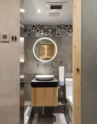 25平老公房浴室装修效果图片