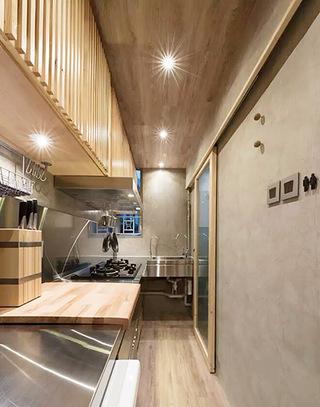 宜家混搭风 开放式厨房吊顶设计