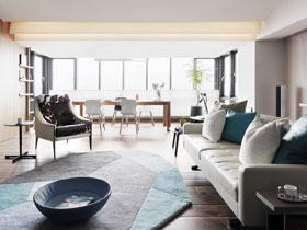 现代简约河岸美宅 90平米两居室装修