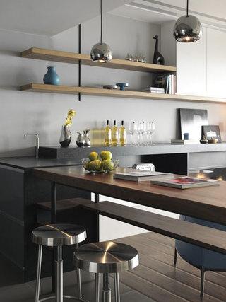 现代简约简单厨房装修效果图