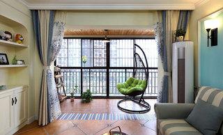 地中海客厅阳台装修效果图
