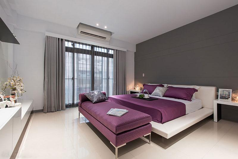都市现代风情 深灰色卧室装修效果图
