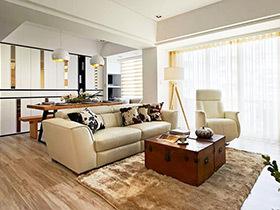 115平两居室简约装修 木色自然温润家