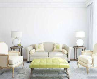简约欧式风格客厅布置图