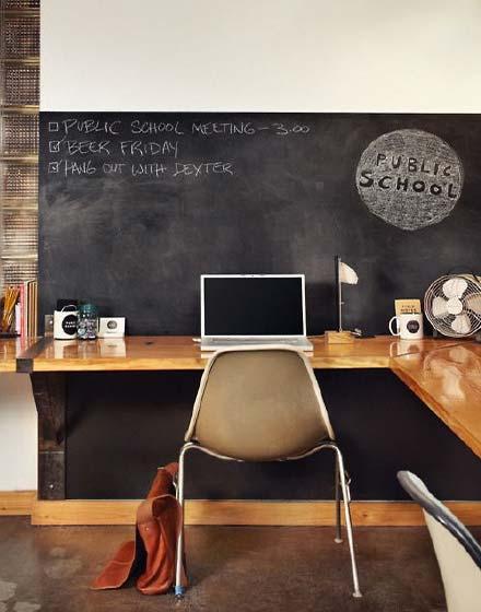 北欧风格转角书桌设计图