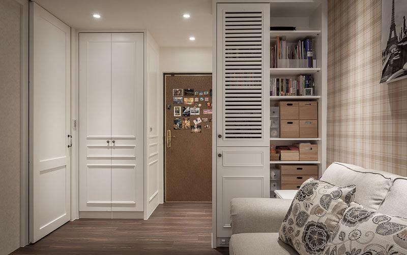 35平小户型进门玄关连客厅图片