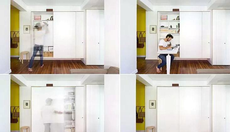 42平小公寓开放式书房装修图