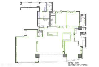 轻古典三居别墅平面设计图