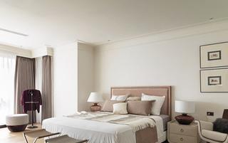轻古典三居别墅卧室装潢设计效果图