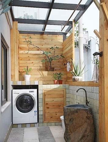 木质生活阳台装饰图片大全