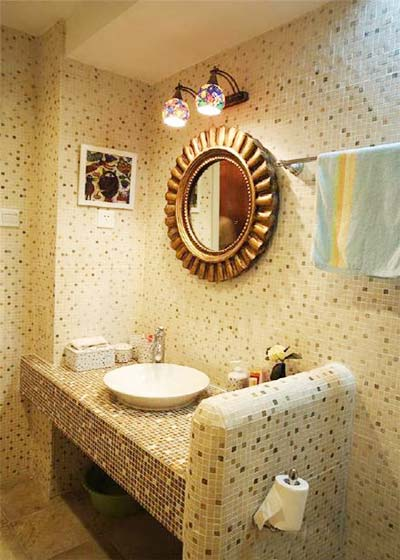 砖砌卫生间装修装饰效果图