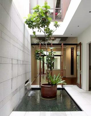 别墅室内庭院装修效果图