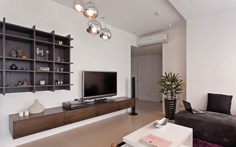 现代简约风电视背景墙效果图