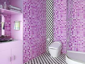 迎紫色新潮  10款紫色系卫生间设计图片