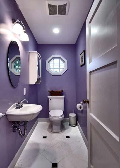 紫色系卫生间实景图片大全