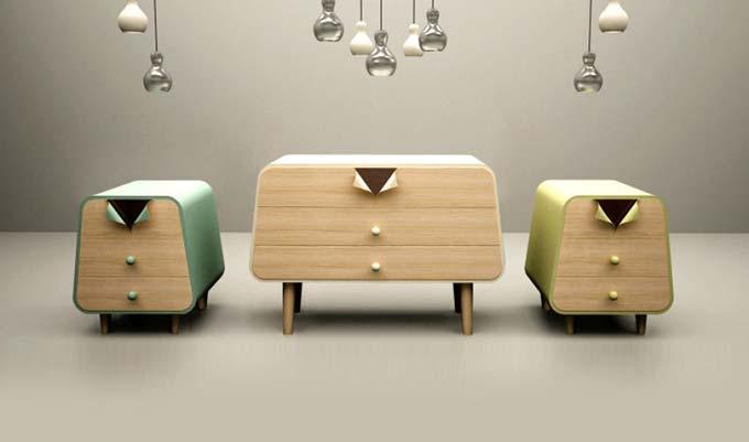 床头柜组合设计图片