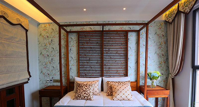 89㎡东南亚风格卧室背景墙设计效果图