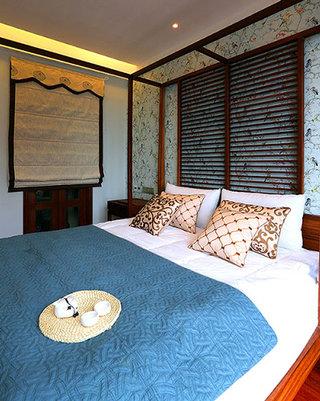 89㎡东南亚风格卧室装饰设计