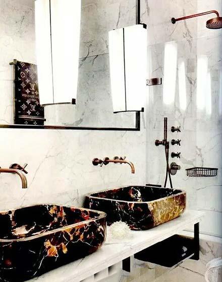 双台盆卫生间装修图片