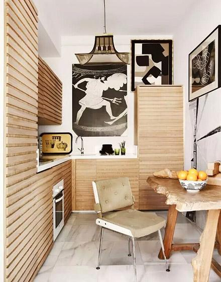 小户型木质厨房家具图片设计