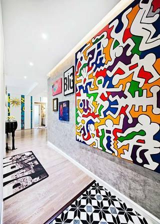 波普风走廊壁画装修图片