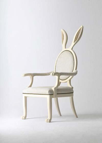 小白兔创意椅子图片大全
