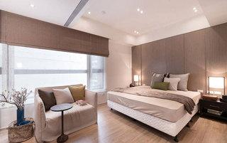 浅咖色现代简约风格卧室装修