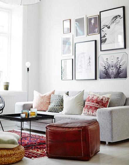清新舒适客厅沙发摆放效果图