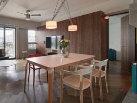 现代混搭风两居室装修  空间舒适效果好