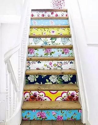 多彩时尚创意楼梯设计图