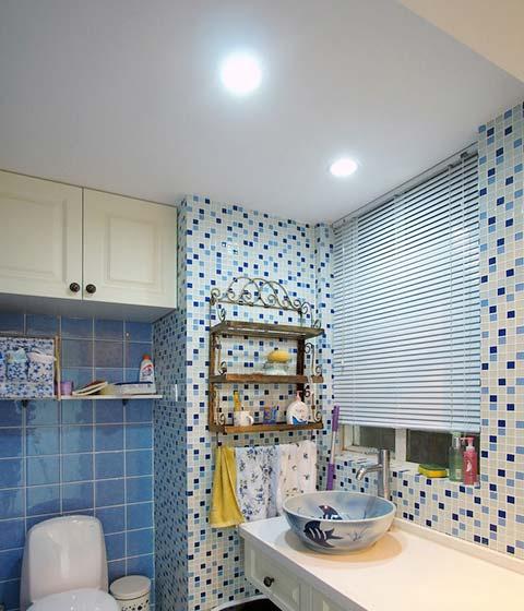 地中海风情卫生间实景瓷砖贴图