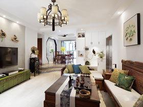 墨香荷舍 140㎡新中式风格三居室装修