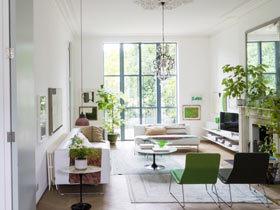 450平别墅设计装修 纯白与嫩绿的世界