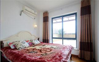 简约风卧室窗帘装饰图片
