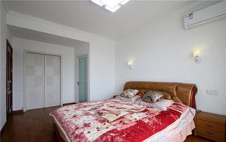 78㎡两室两厅卧室背景墙图片