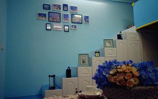 40平地中海风格楼梯照片墙效果图