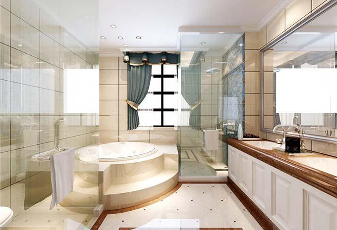 卫生间开门玻璃隔断装修效果图