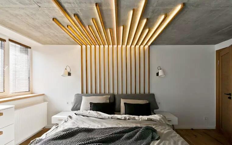 创意卧室吊顶装修效果图