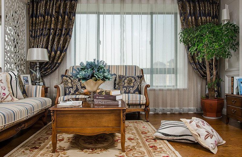 古典欧式客厅窗帘效果图