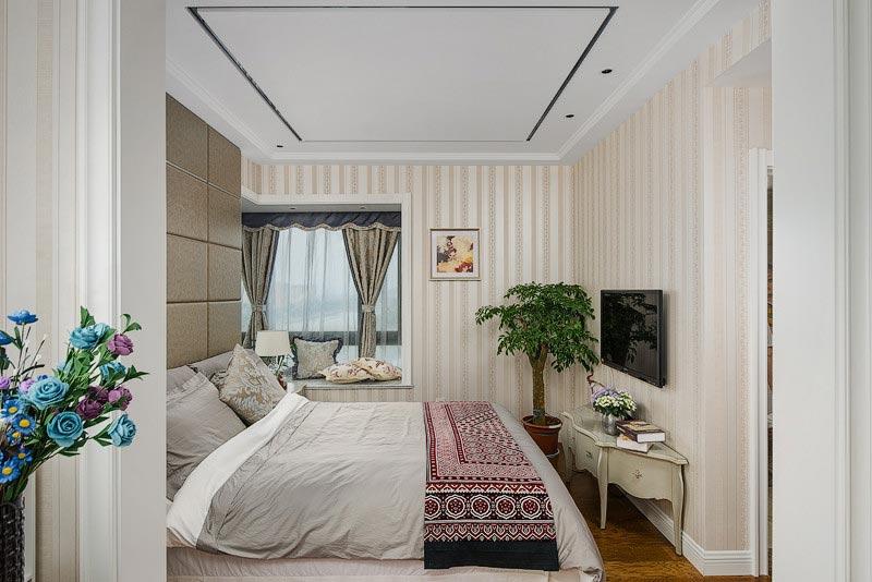 温馨简欧风卧室装饰效果图