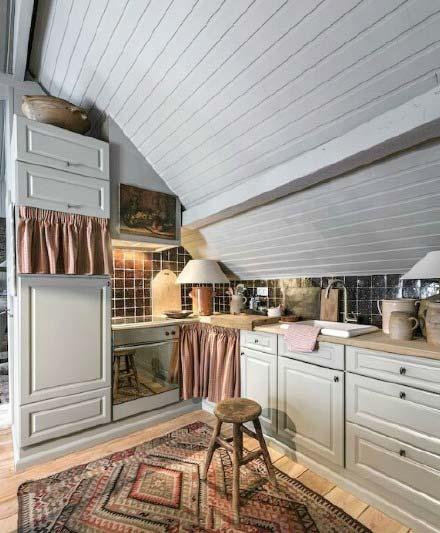 阁楼卧室厨房装修装饰效果图