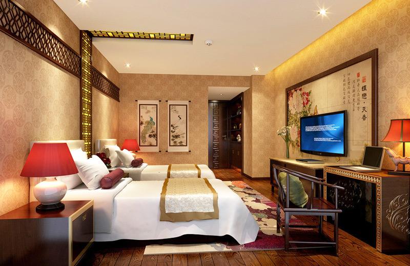 中式风格酒店效果图装修