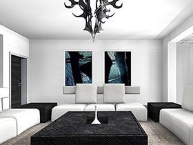 拥抱极简主义 11个极简风格客厅设计图