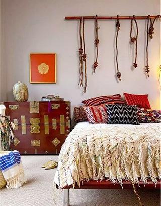 自在波西米亚风情卧室装潢图