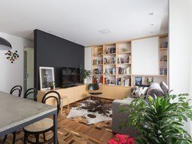 70平方小户型装修 巴西年轻夫妇的现代公寓
