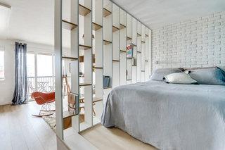25平米北欧小户型卧室客厅隔断设计