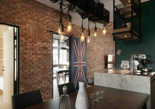 104平米混搭餐厅吊顶设计图片