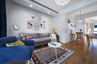 89平现代北欧客厅沙发装饰效果图