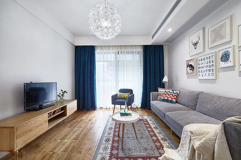 89平现代北欧客厅装修效果图